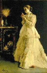 Stevens La dame en rose 1866