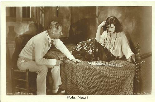 Herbert Brenon directing Pola Negri in The Spanish Dancer