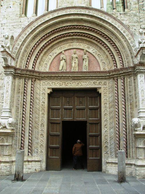 The model for the scene with the church portal in Romeo e Giulietta (1912).