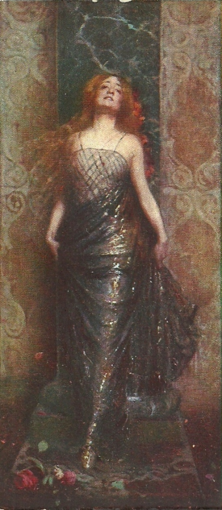 Postcard of Lyda Borelli, painted by Cesare Tallone