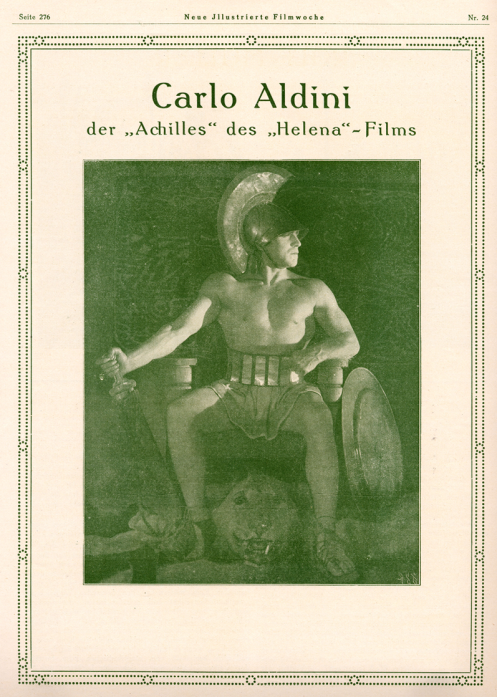 Carlo Aldini as Achilles in Helena